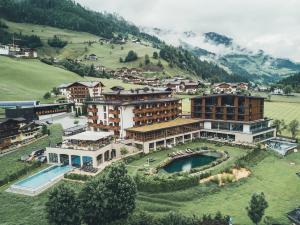 Blick auf Hotel Nesslerhof aus der Vogelperspektive