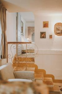 A seating area at Masseria Montenapoleone