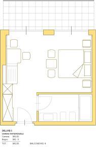 The floor plan of Hotel Aria