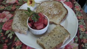 Food at or somewhere near the bed & breakfast