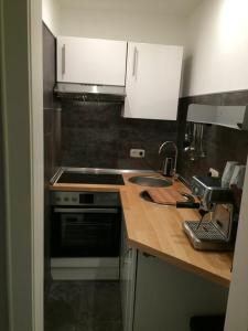 Küche/Küchenzeile in der Unterkunft Appartement St. Barbara