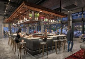 A restaurant or other place to eat at MOXY Seattle Downtown