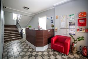 Hol lub recepcja w obiekcie Hostel Smoszewski