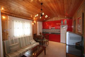 Een keuken of kitchenette bij El Canto La Gallina