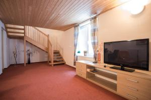 A television and/or entertainment center at Apartmány Tiva
