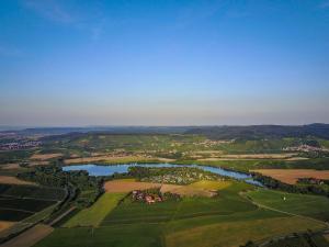 Blick auf Pension Weinsberger Tal aus der Vogelperspektive