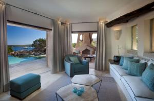 A seating area at Pitrizza, a Luxury Collection Hotel