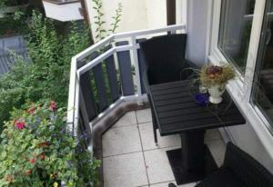 Ein Balkon oder eine Terrasse in der Unterkunft Evelyn Klaeger