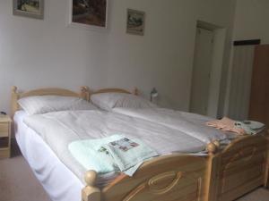 A bed or beds in a room at Penzion U Holubů Nový Jičín