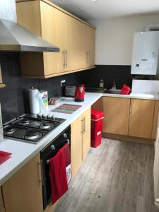 A kitchen or kitchenette at GORTON Holiday Home