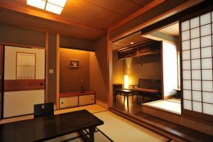 A seating area at Yuzuya Ryokan
