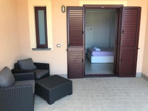 A bathroom at Meublé Leonetti