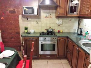 "A kitchen or kitchenette at ""Петербургский прием"""