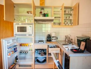 A kitchen or kitchenette at Landhaus Amadeus