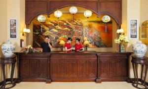 Lobby/Rezeption in der Unterkunft La Residencia . A Little Boutique Hotel & Spa