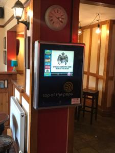 A television and/or entertainment centre at The Gate Inn