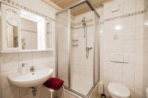 Ein Badezimmer in der Unterkunft Pension Vier Napoleonslinden