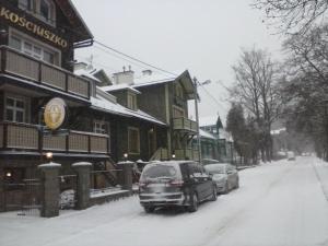 Obiekt Pensjonat Kościuszko zimą