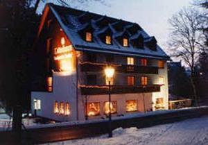 Landhotel Osterlamm during the winter