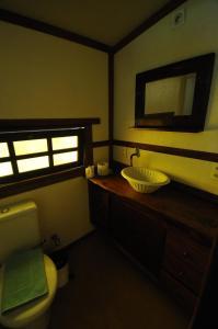 A bathroom at Abayomi Pousada