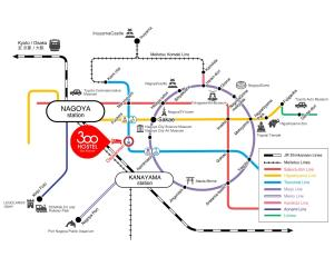 300 名古屋 大須観音の鳥瞰図