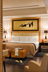 Un ou plusieurs lits dans un hébergement de l'établissement Hôtel & Ryads Barrière Le Naoura