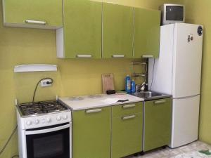 A kitchen or kitchenette at Авантадом Апартаменты по Хабарова, 23/2, twin