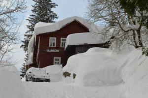 Chata Slunečná im Winter