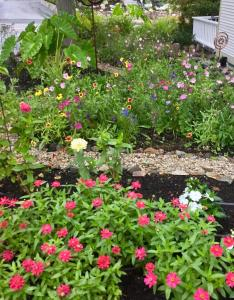 A garden outside Black Boar Inn Ogunquit