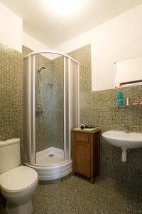 Ванная комната в Hotel Columbo
