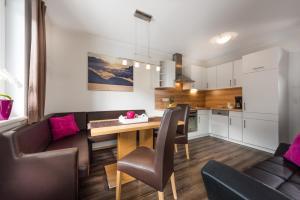 Küche/Küchenzeile in der Unterkunft Appartements Zahnleiten