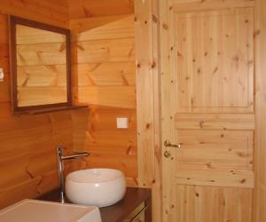 Salle de bains dans l'établissement La Simonette