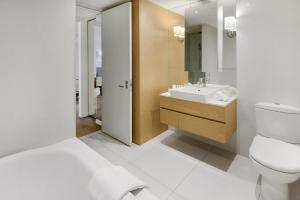 A bathroom at Edgewater 108