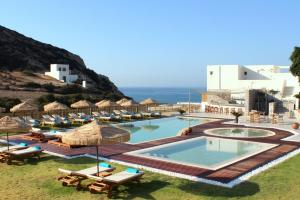 The swimming pool at or near Golden Milos Beach