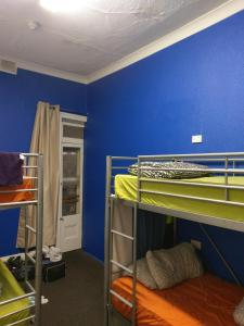 A bunk bed or bunk beds in a room at Adelaide Travellers Inn Backpackers Hostel