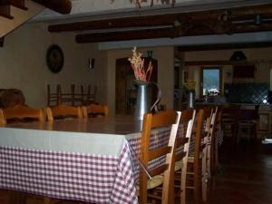 Dining area at the gite