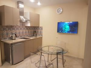 A kitchen or kitchenette at Apartment Kamenka