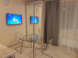 A television and/or entertainment center at Apartment Kamenka