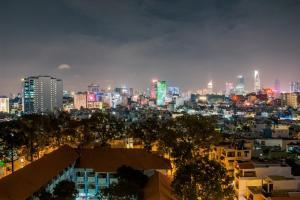 Cảnh TP. Hồ Chí Minh hoặc tầm nhìn thành phố từ khách sạn căn hộ
