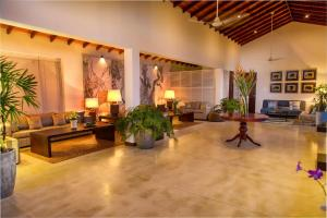 The lobby or reception area at Mirissa Beach Villa
