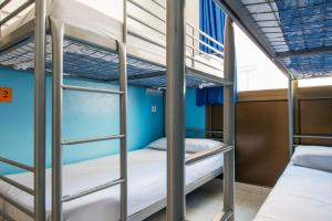 A bunk bed or bunk beds in a room at Safestay Barcelona Sea