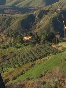 A bird's-eye view of Podere Doccia di Sopra