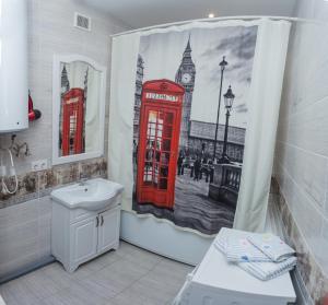 A bathroom at Apartment on Lenina 69А
