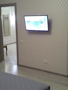 Телевизор и/или развлекательный центр в Апартаменты на Советской Набережной