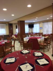A restaurant or other place to eat at Hostal Venta Del Sol