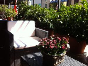 A porch or other outdoor area at Hotel La Vela