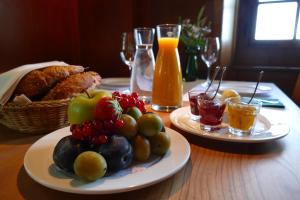 Breakfast options available to guests at Gasthaus Schlosshalde