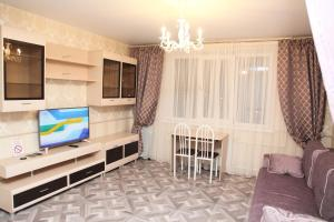 A television and/or entertainment centre at Апартаменты Зелёный Город Бизнес Класс