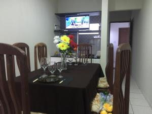 A restaurant or other place to eat at Apart Hotel Beira Mar