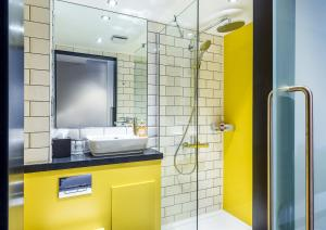 A bathroom at KM Central
